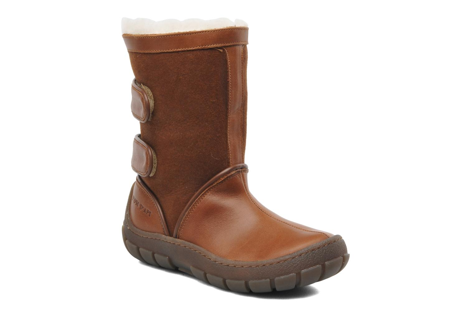 Boots & wellies Pom d Api Piwi Chabraque Brown detailed view/ Pair view