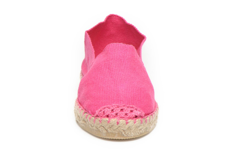 Espadrilles La maison de l'espadrille Sabline E Rose vue portées chaussures