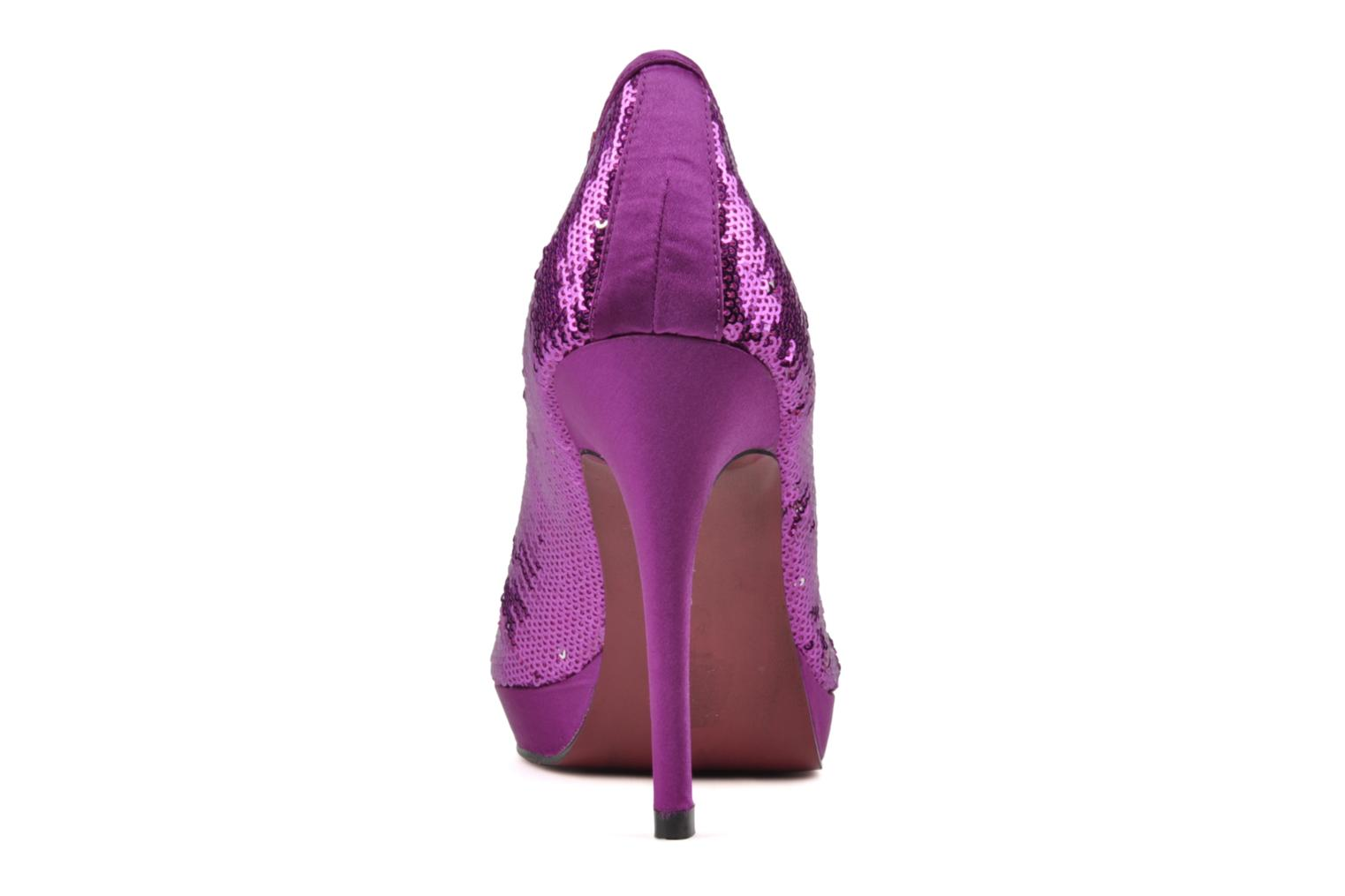 High heels Buffalo Paillette Pink view from the right