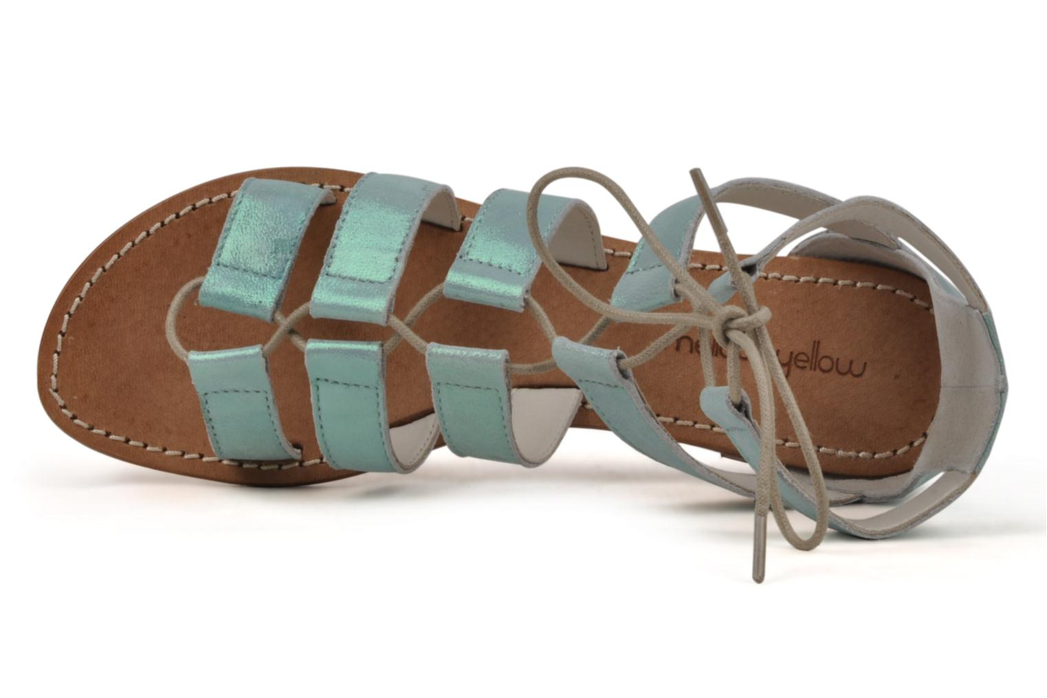 Sandals Mellow Yellow Hirondelle Blue view from the left