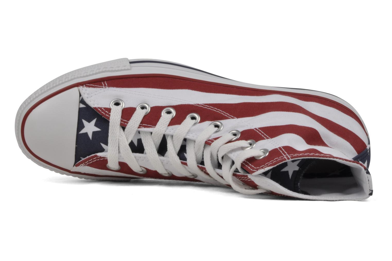 Sneaker Converse Chuck Taylor All Star Stars & Bars Hi M weiß ansicht von links