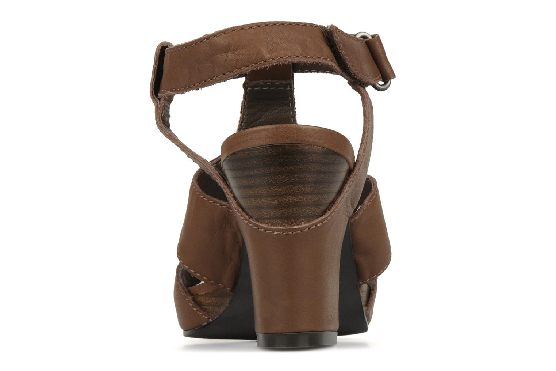 Sandales et nu-pieds JB MARTIN Hawaienne Or et bronze vue droite