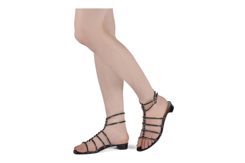 Sandales et nu-pieds Perlato Jadia Noir vue bas / vue portée sac