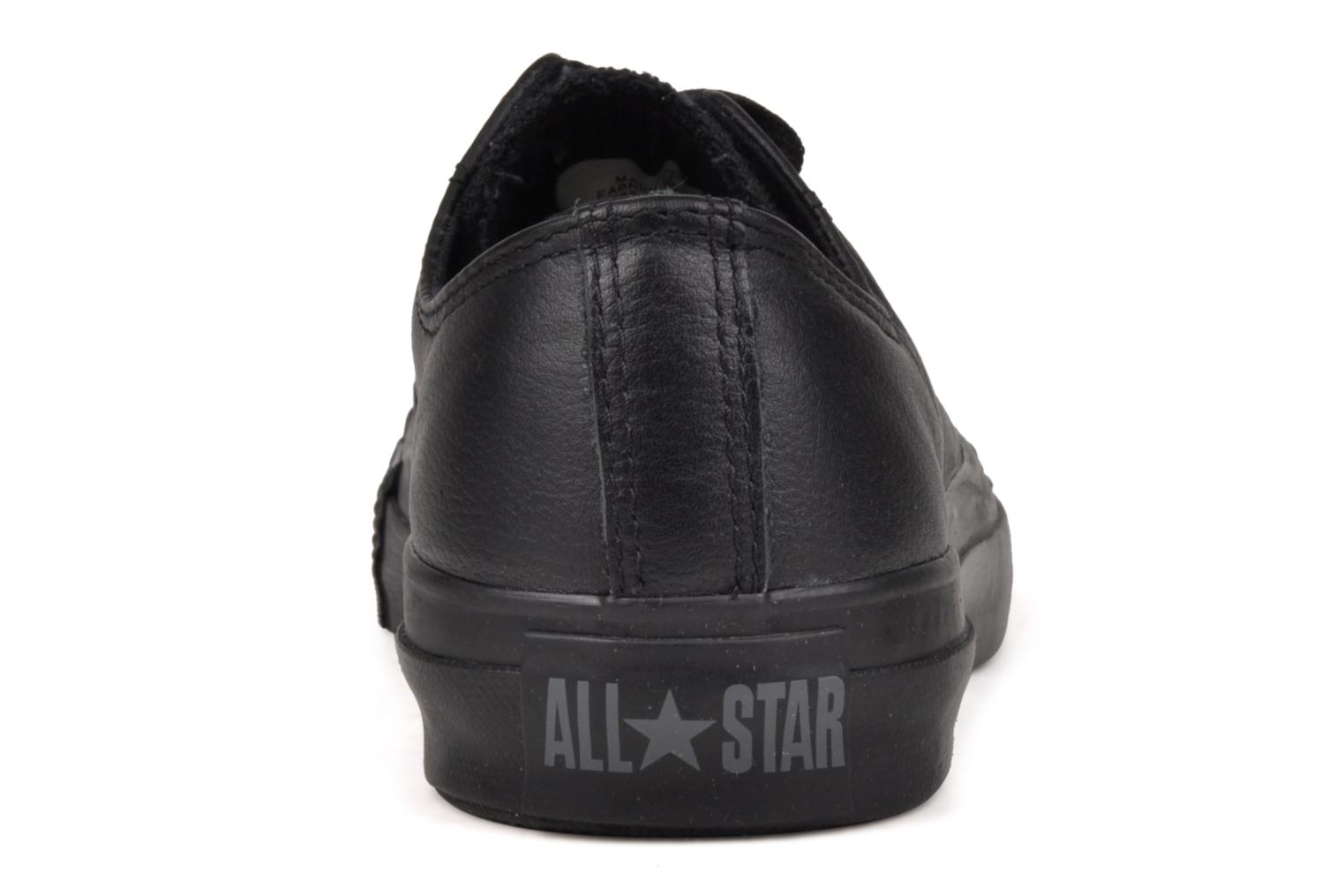 Trainers Converse Chuck Taylor All Star Monochrome Leather Ox W Black view from the right