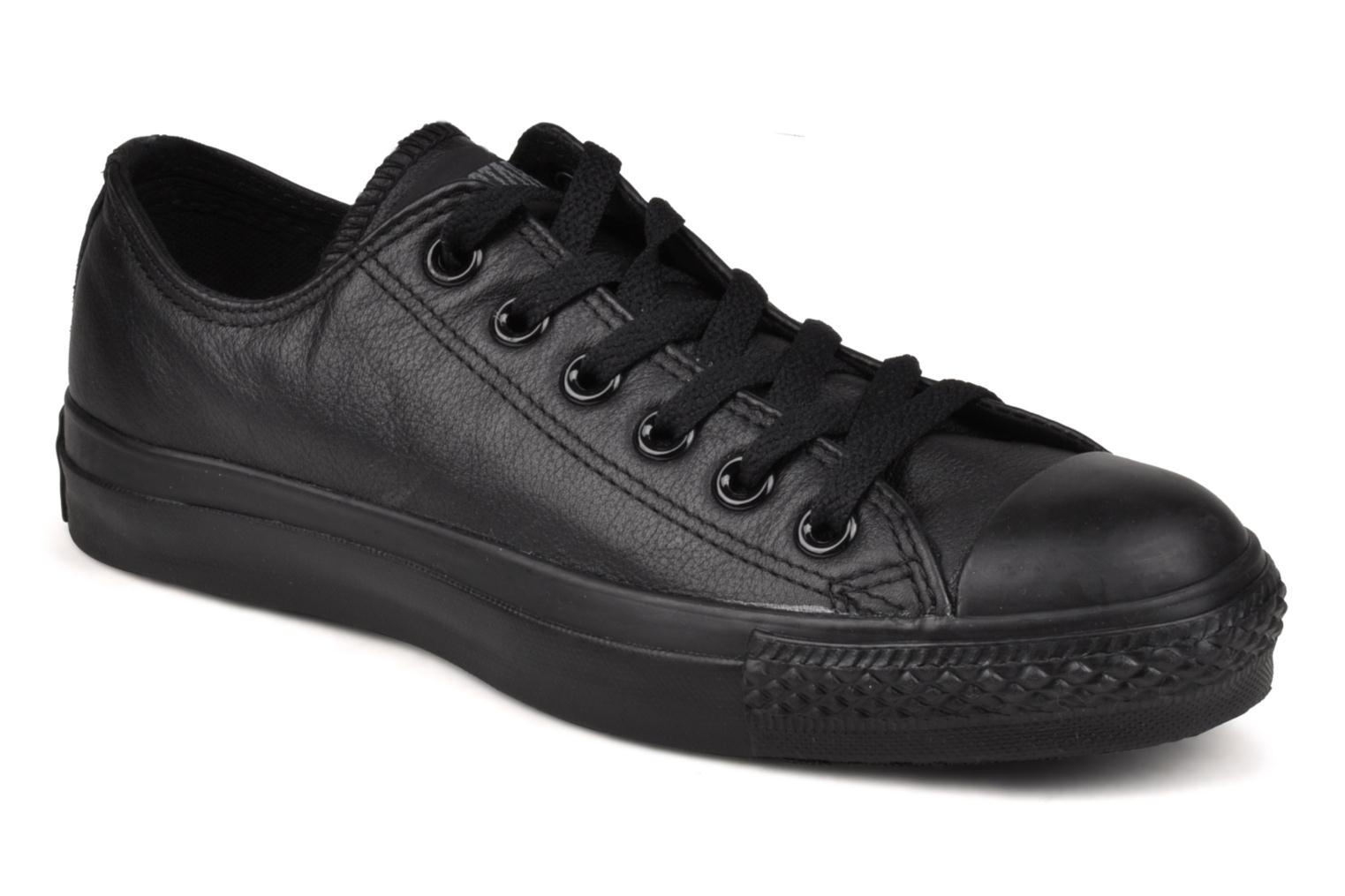 Trainers Converse Chuck Taylor All Star Monochrome Leather Ox W Black detailed view/ Pair view