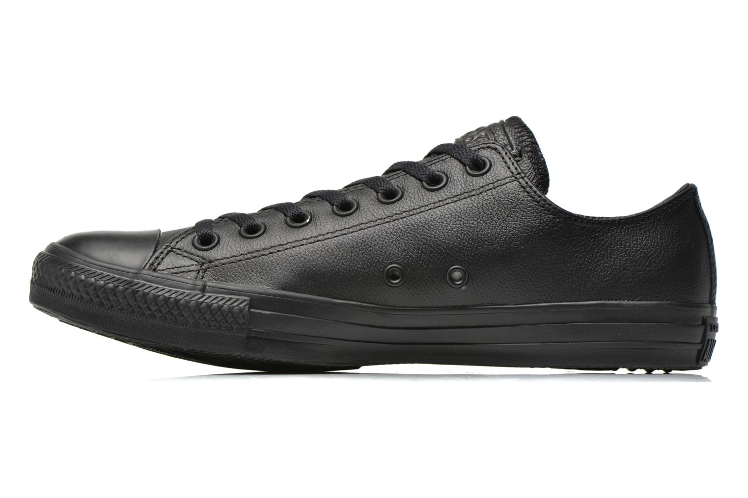 Sneakers Converse Chuck Taylor All Star Monochrome Leather Ox M Zwart voorkant