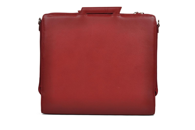 Business Lin & Gelli Elegy Laptop Rojo vista de frente