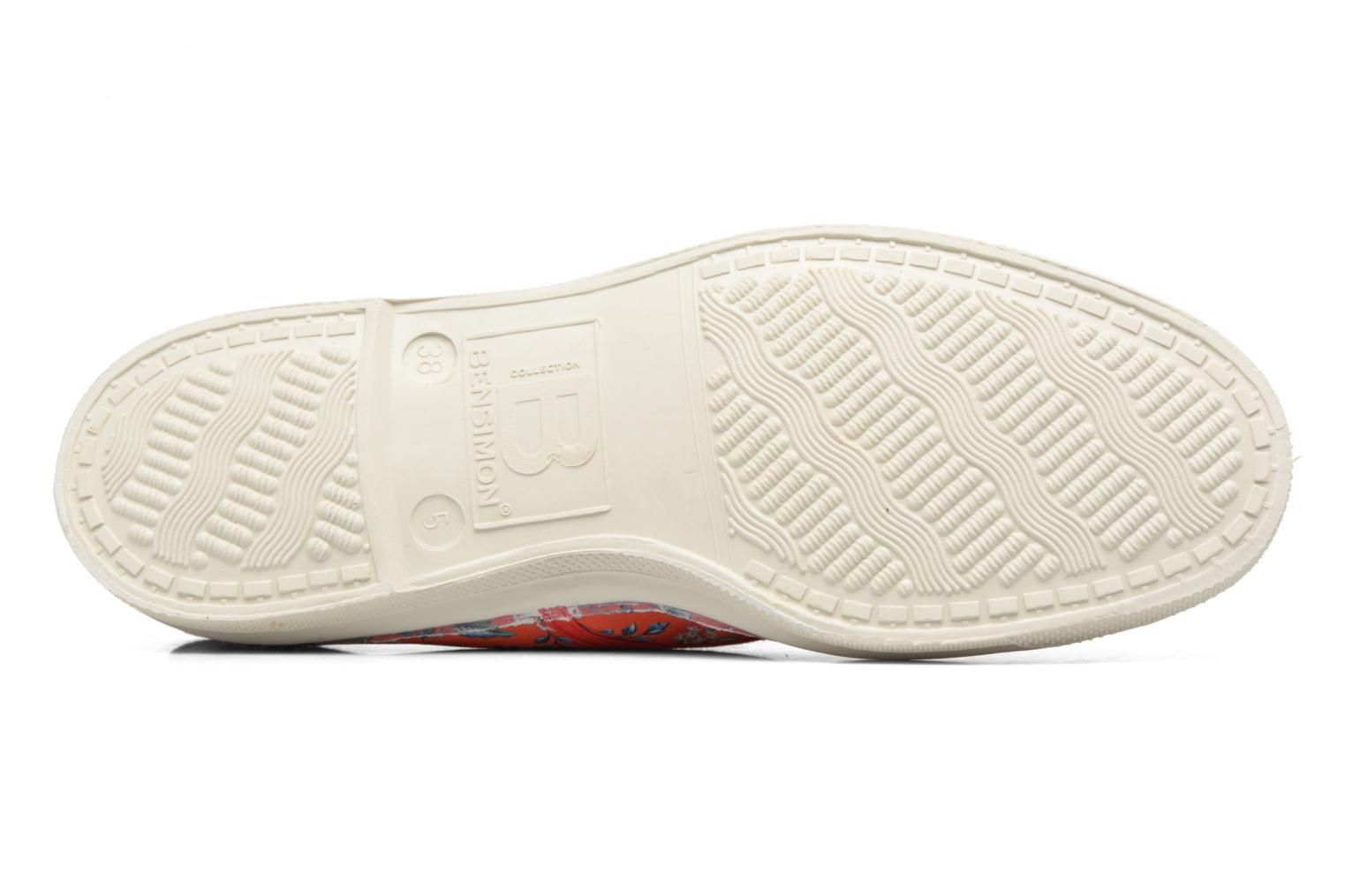Trainers Bensimon Tennis Liberty Red view from above