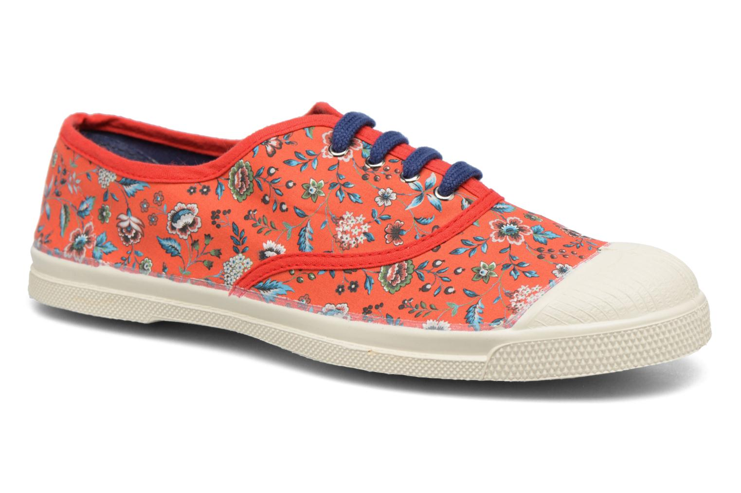 Trainers Bensimon Tennis Liberty Red detailed view/ Pair view
