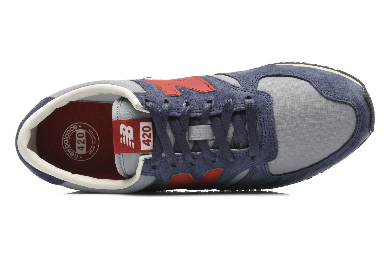 Baskets New Balance U420 Bleu vue gauche