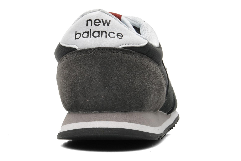 Deportivas New Balance U420 Negro vista lateral derecha