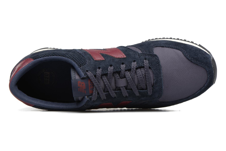 Sneaker New Balance U420 schwarz ansicht von links