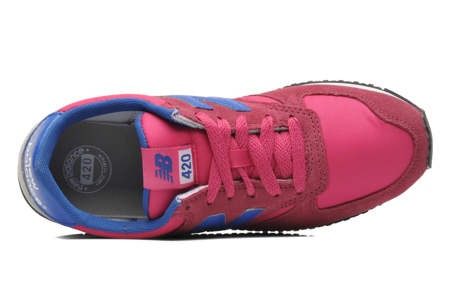 Baskets New Balance U420 W Rose vue gauche