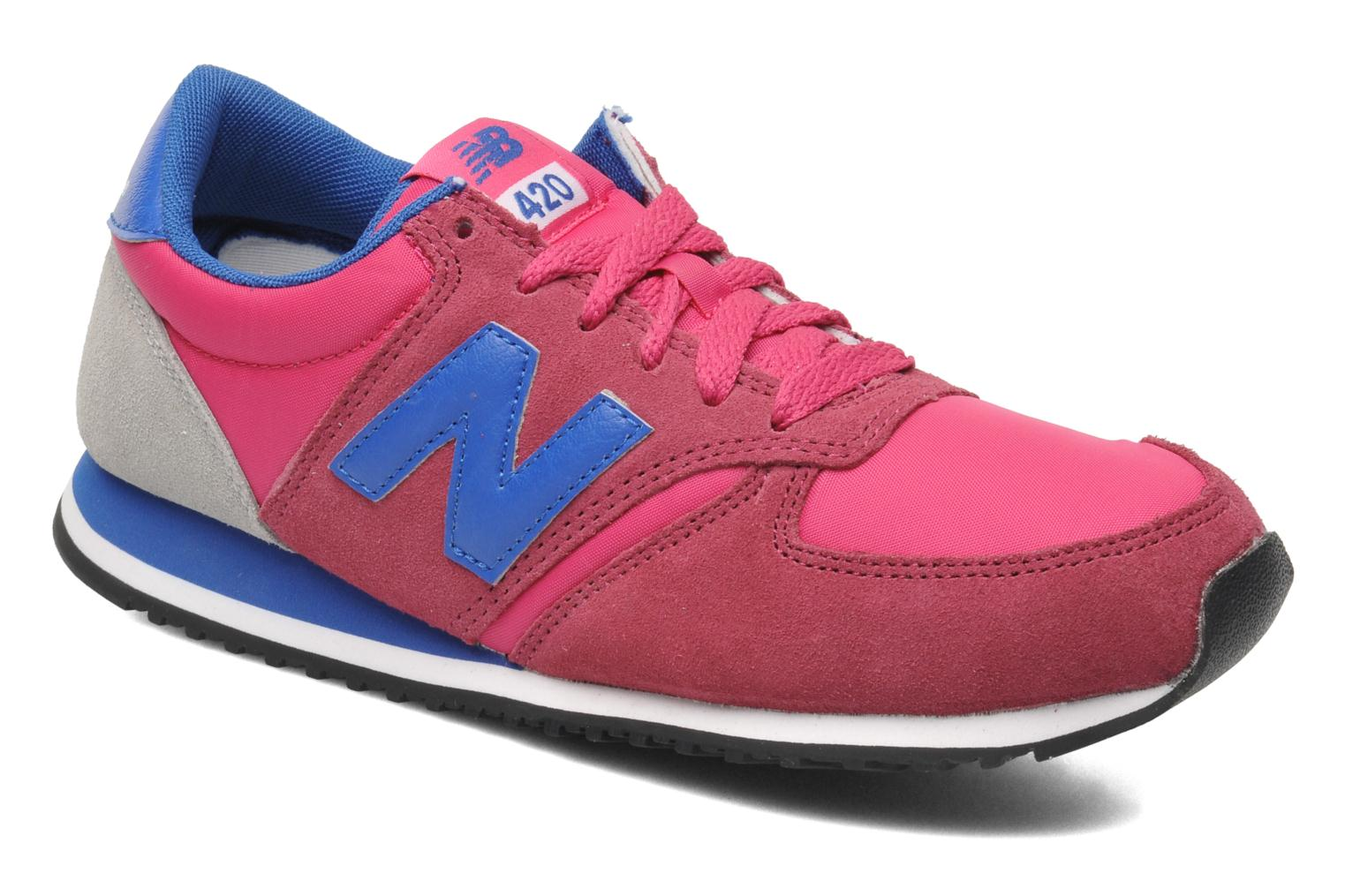 Baskets New Balance U420 W Rose vue détail/paire