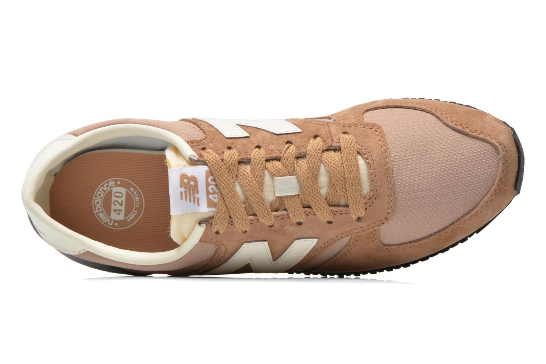 Sneaker New Balance U420 W beige ansicht von links