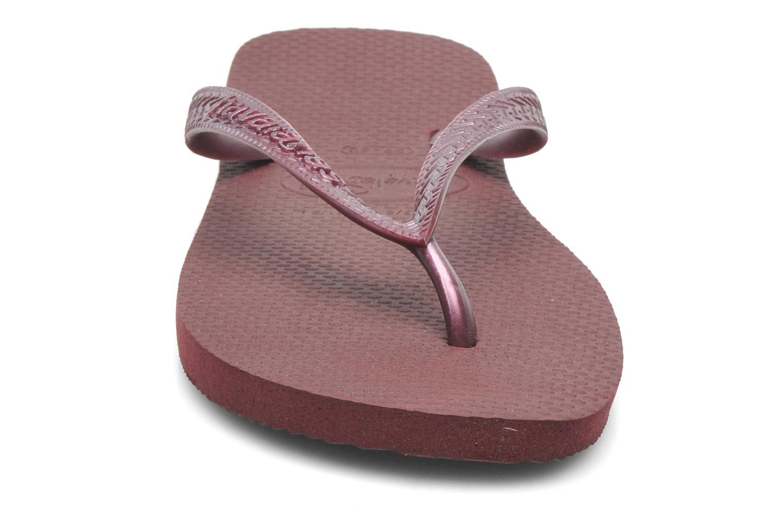 Tongs Havaianas Top Metallic F Violet vue portées chaussures