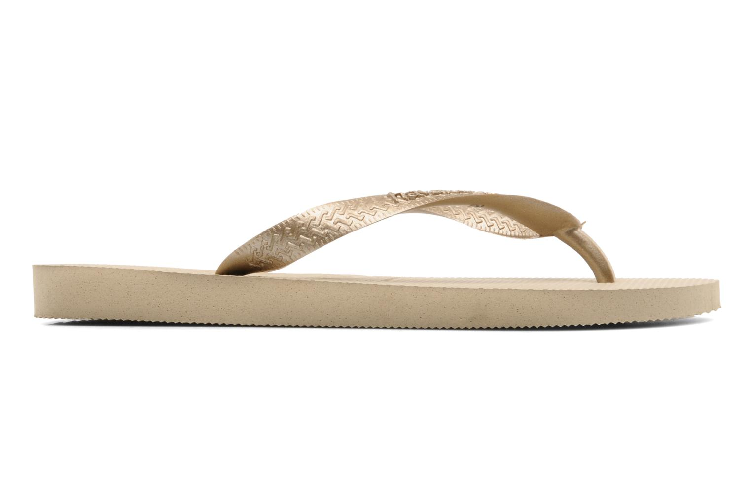 Tongs Havaianas Top Metallic F Or et bronze vue derrière