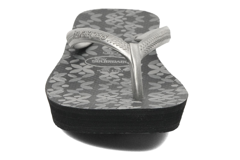 Tongs Havaianas High Light II F Noir vue portées chaussures