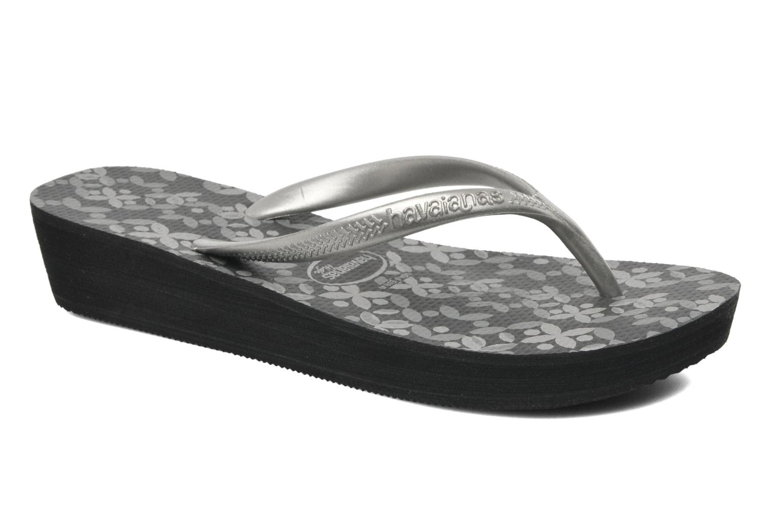 Tongs Havaianas High Light II F Noir vue détail/paire