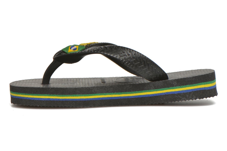 Zehensandalen Havaianas Brasil Logo E schwarz ansicht von vorne