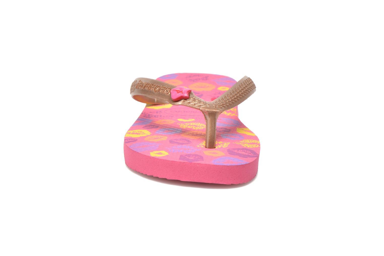 Zehensandalen Havaianas Kids Fun rosa schuhe getragen