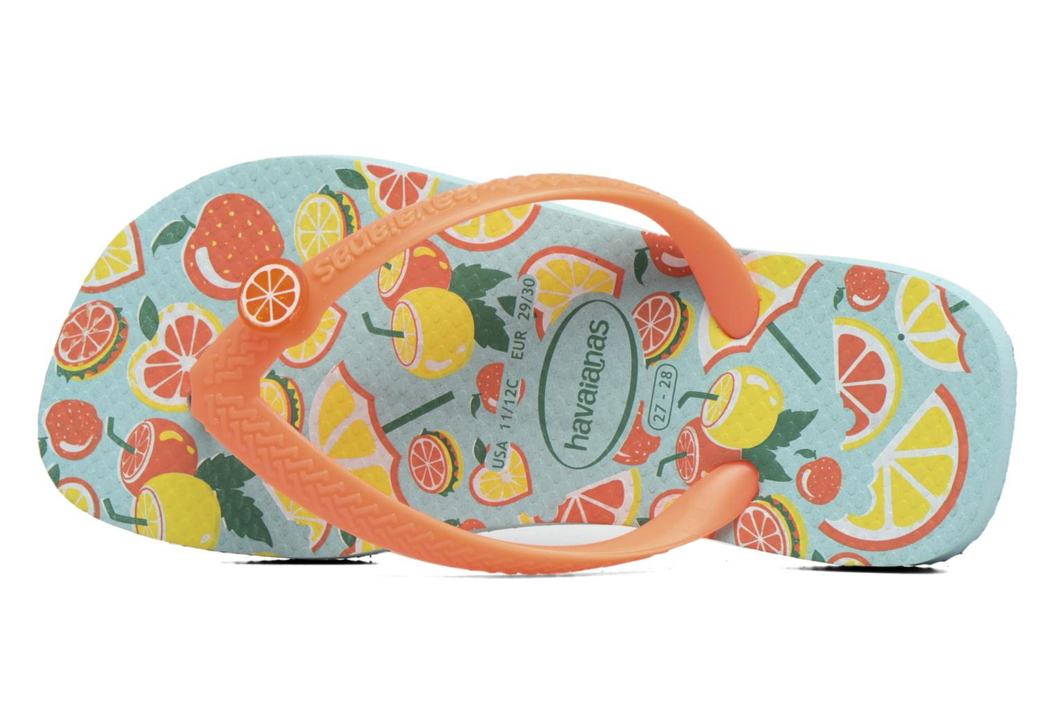 Flip flops Havaianas Kids Fun Blue view from the left