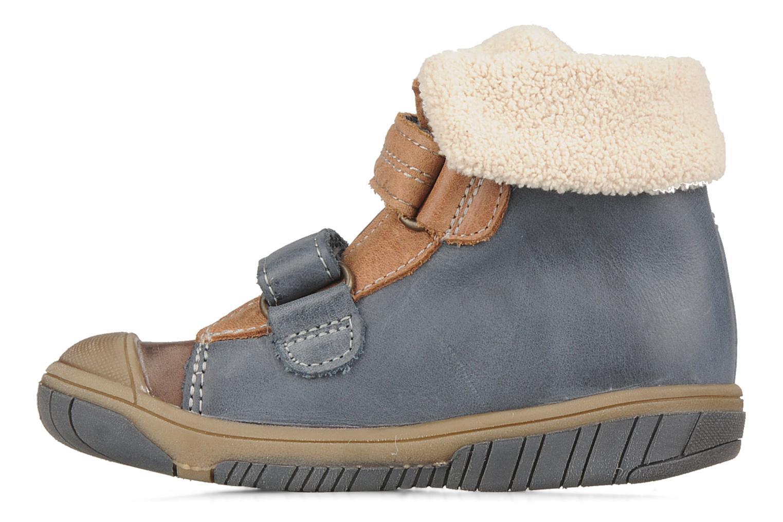 Chaussures à scratch Babybotte Acteur G Bleu vue face