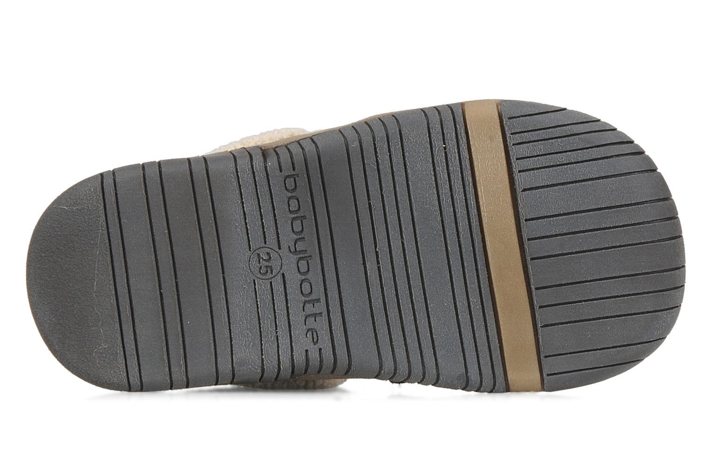 Chaussures à scratch Babybotte Acteur G Bleu vue haut