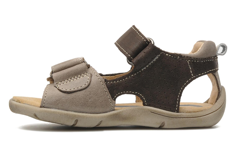 Sandales et nu-pieds Babybotte Toto Marron vue face