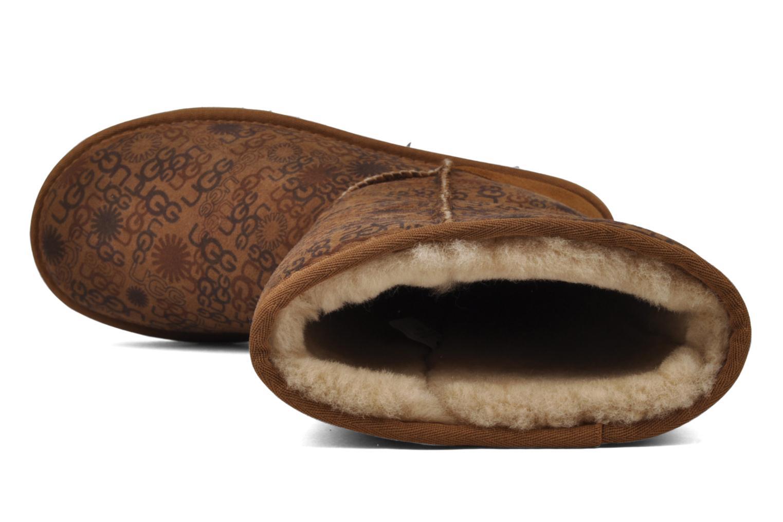 Bottines et boots UGG Classic Tall Logo W Marron vue gauche