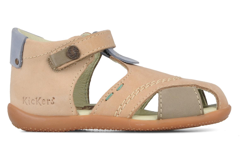 Sandales et nu-pieds Kickers Banzai Beige vue derrière