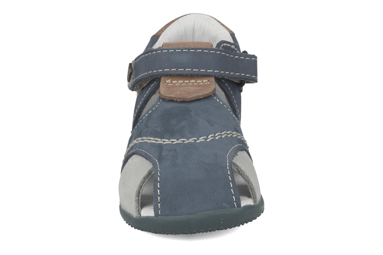 Sandales et nu-pieds Kickers Banzai Bleu vue portées chaussures