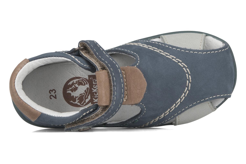 Sandales et nu-pieds Kickers Banzai Bleu vue gauche