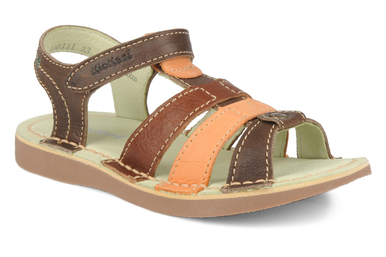 Sandales et nu-pieds Kickers Woops Marron vue détail/paire