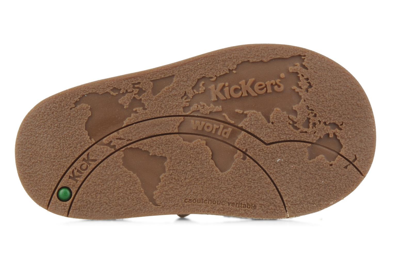 Sandales et nu-pieds Kickers Woops Beige vue haut