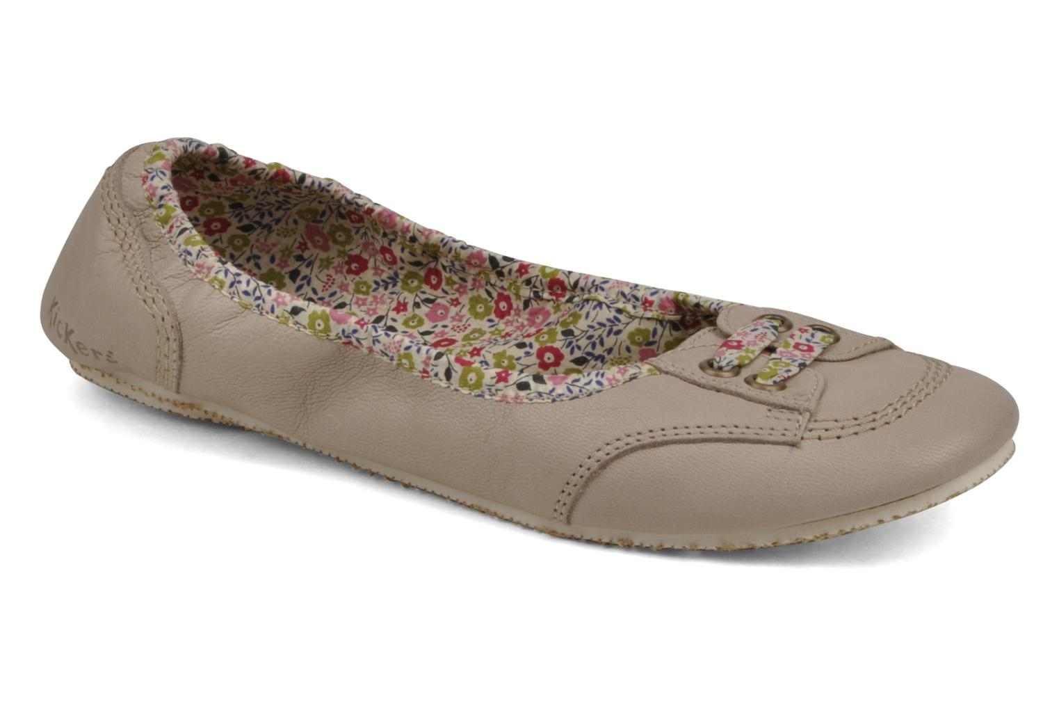 Ballerines Kickers Moon Walk Beige vue détail/paire