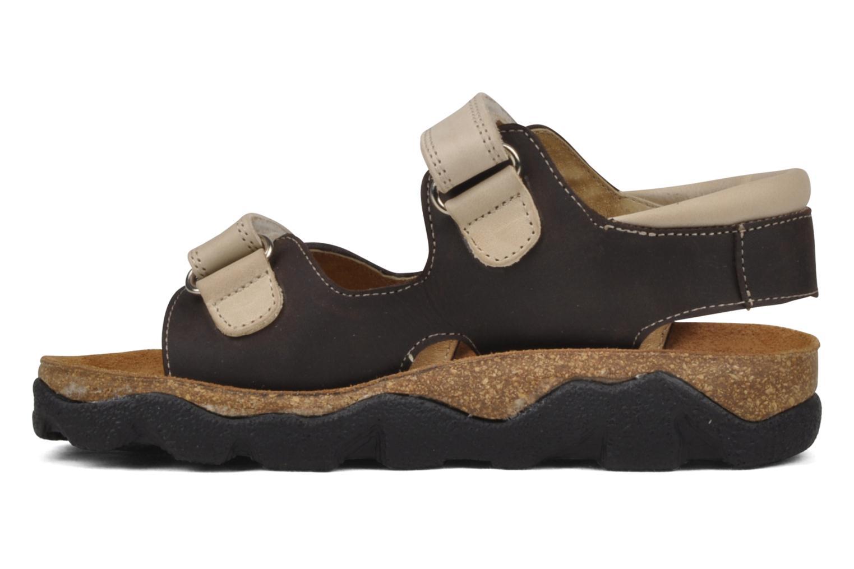 Sandales et nu-pieds Natik B-563 Marron vue face
