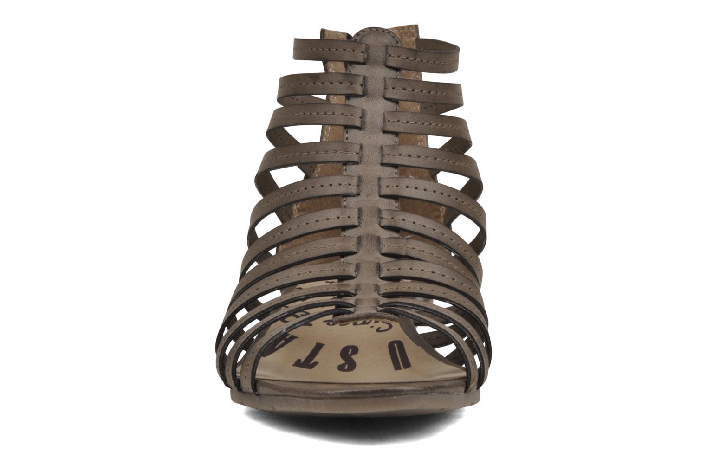 Sandales et nu-pieds Mustang shoes Runy Beige vue portées chaussures