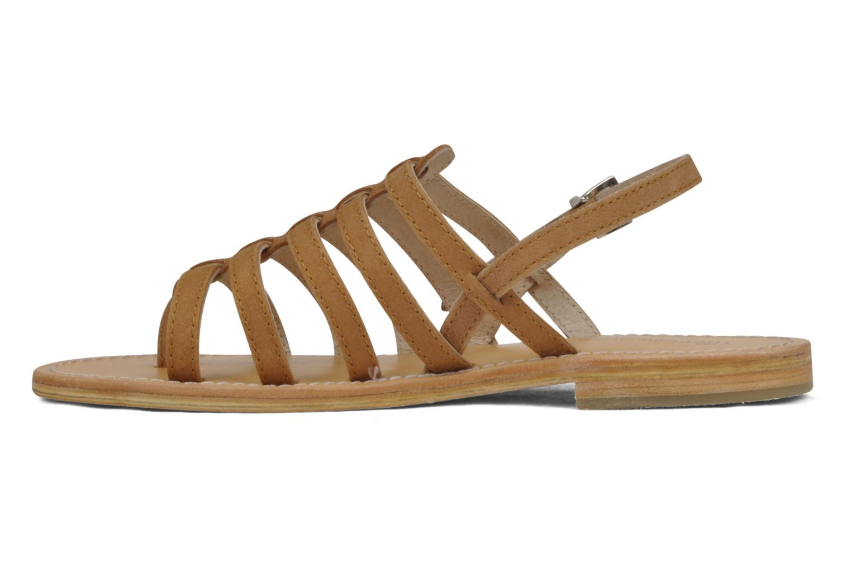 Sandalen Les Tropéziennes par M Belarbi Hook braun ansicht von vorne