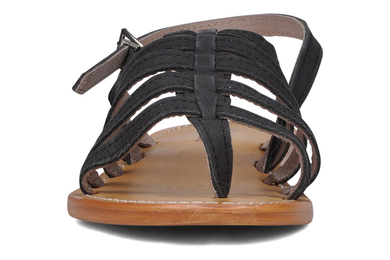 Sandales et nu-pieds Les Tropéziennes par M Belarbi Hook Noir vue portées chaussures