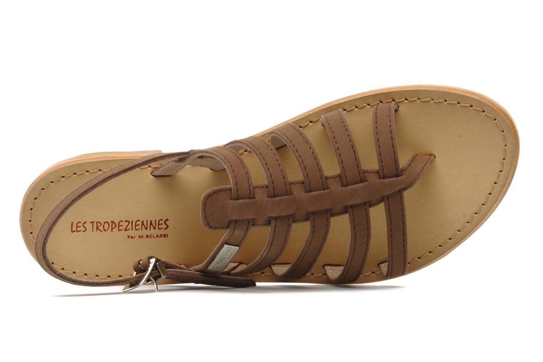 Sandals Les Tropéziennes par M Belarbi Hook Brown view from the left