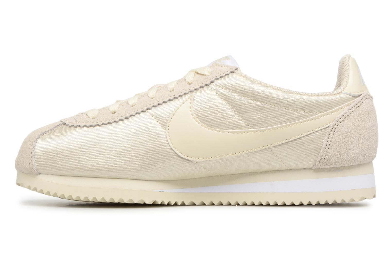Deportivas Nike Wmns Classic Cortez Nylon Beige vista de frente