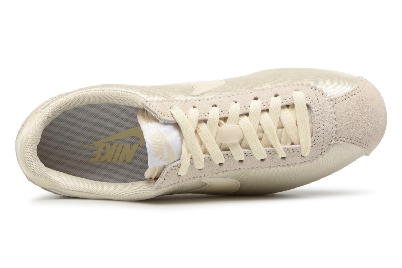 Deportivas Nike Wmns Classic Cortez Nylon Beige vista lateral izquierda