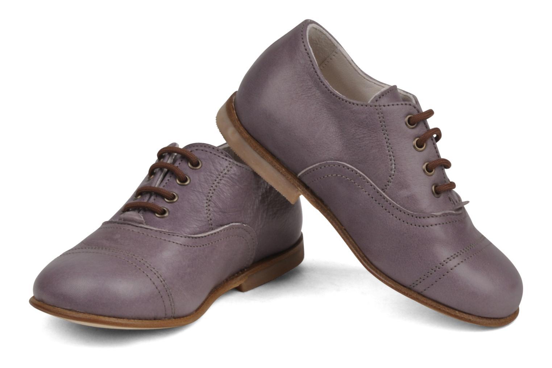 Chaussures à lacets PèPè Coma Violet vue bas / vue portée sac