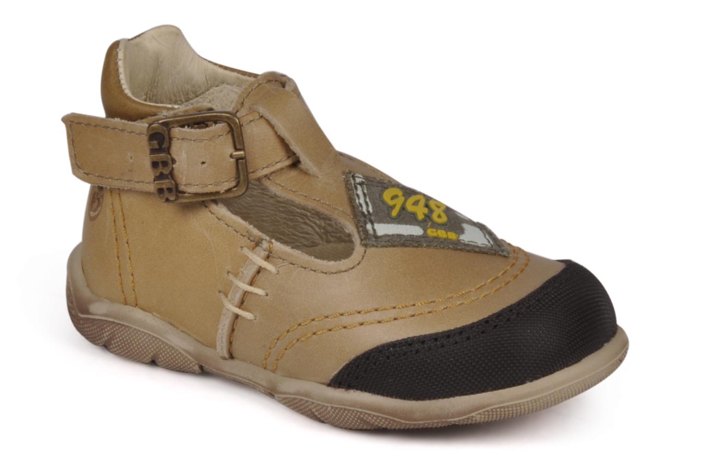 Boots en enkellaarsjes GBB Leopold Bruin detail