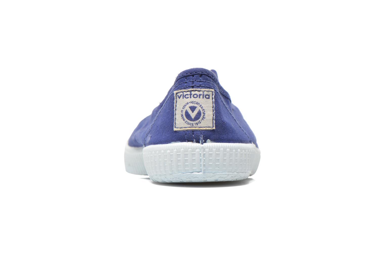 Baskets Victoria Victoria Elastique W Bleu vue droite