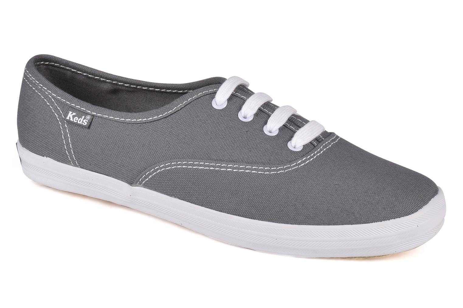 Trainers Keds Champion Canvas Grey detailed view/ Pair view