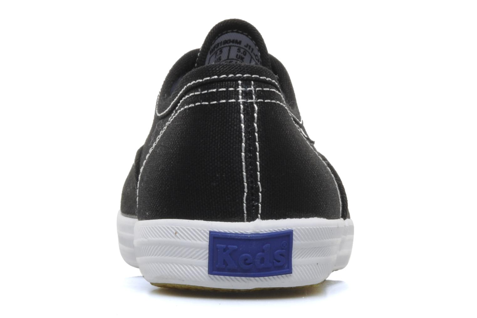 Deportivas Keds Champion Canvas Negro vista lateral derecha