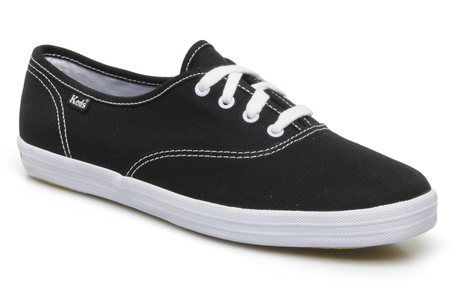 Trainers Keds Champion Canvas Black detailed view/ Pair view