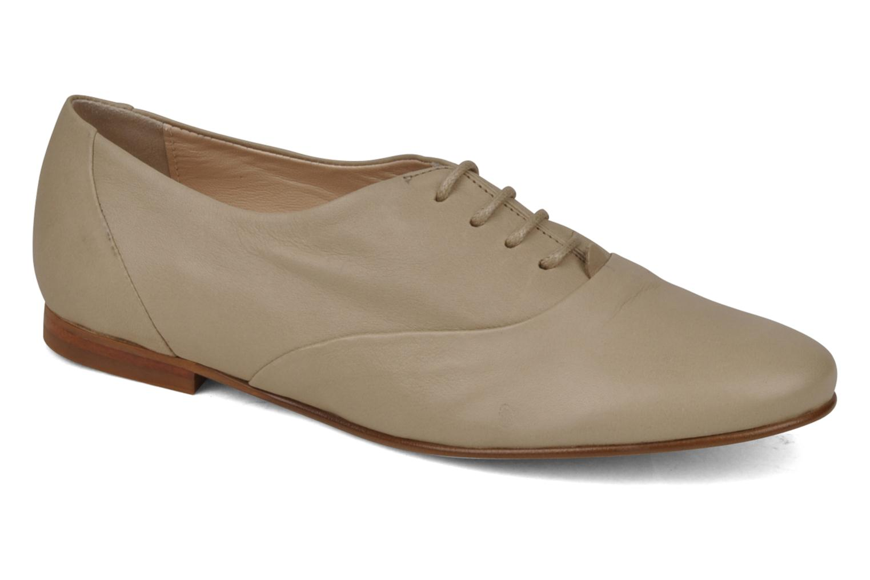 Chaussures à lacets Planisphere Nelly papaye Beige vue détail/paire
